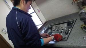 名古屋市緑区 ガスコンロ取替工事 施工中